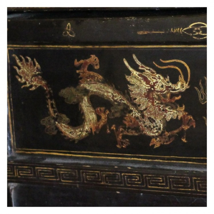 A CHINESE EXPORT BLACK-AND-GILT LACQUERED CABINET SHANXI PROVENCE, CHINA 19TH C.1850