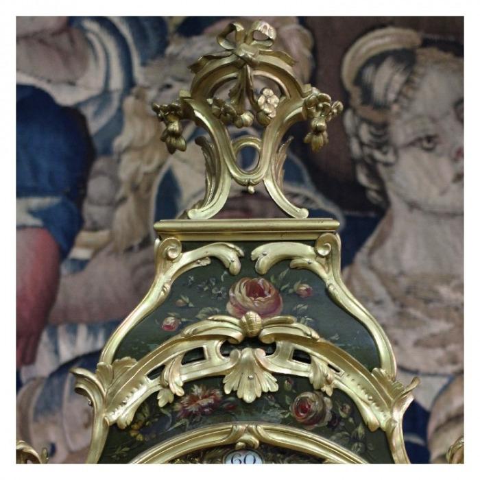 AN 18TH CENTURY LOUIS XV, VERNIS MARTIN CARTEL SIGNED F. LESAGE A PARIS. CIRCA 1785-1790