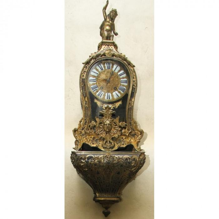 AN 18TH CENTURY, REGENCE PERIOD, BOULLE BRACKET CLOCK. CIRCA. 1715.