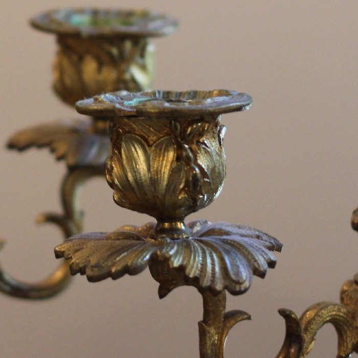 A PAIR OF LOUIS XV BOULLE CANDELABRUM