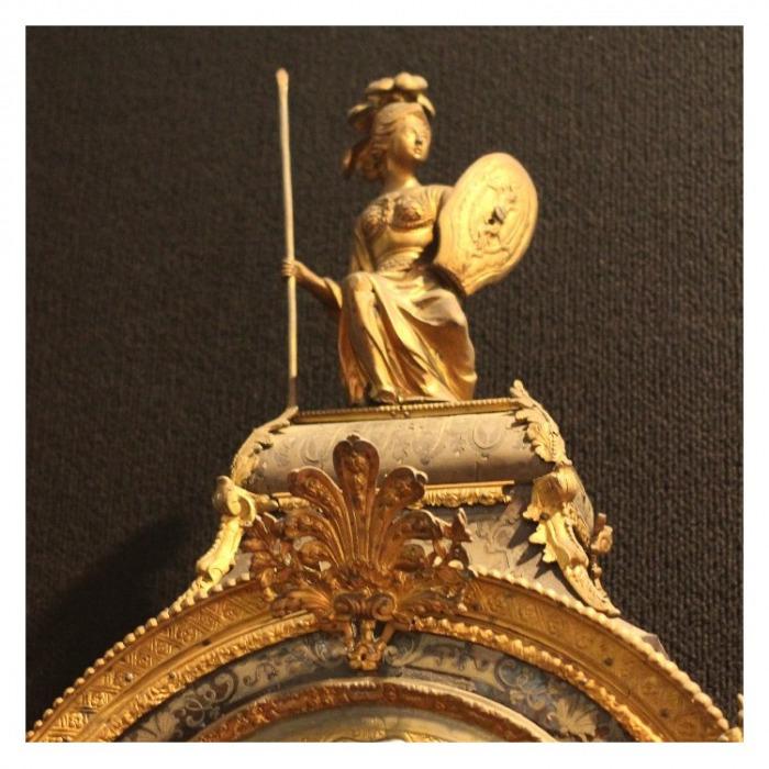 18TH CENTURY, REGENCE PERIOD BOULLE BRACKET CLOCK, SIGNED DOYEN A PARIS. CIRCA 1715